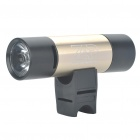Multifunction 1W 3-Mode 130-Lumen LED Flashlight with MP3 Music Speaker Player/FM/TF - Light Gold