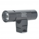 Multifunction 1W 3-Mode 130-Lumen LED Flashlight with MP3 Music Speaker Player/FM/TF - Black