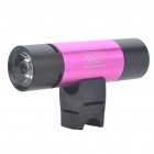Multifunction 1W 3-Mode 130-Lumen LED Flashlight with MP3 Music Speaker Player/FM/TF - Deep Pink