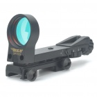 Tactical 4-Reticle Red Dot Sight Rifle Scope with Gun Mount - Black (1xCR2032)