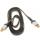 Genuine Sony 3D 1080P HDMI 1.4 Flat Male to Male Cable - Black (2M-Length)