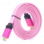 Gold Plated 3D 1080P HDMI V1.4 M-M Flat Connection Cable - Pink (1.8M-Length)