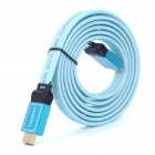 Gold Plated 3D 1080P HDMI V1.4 M-M Flat Connection Cable - Blue (1.8M-Length)