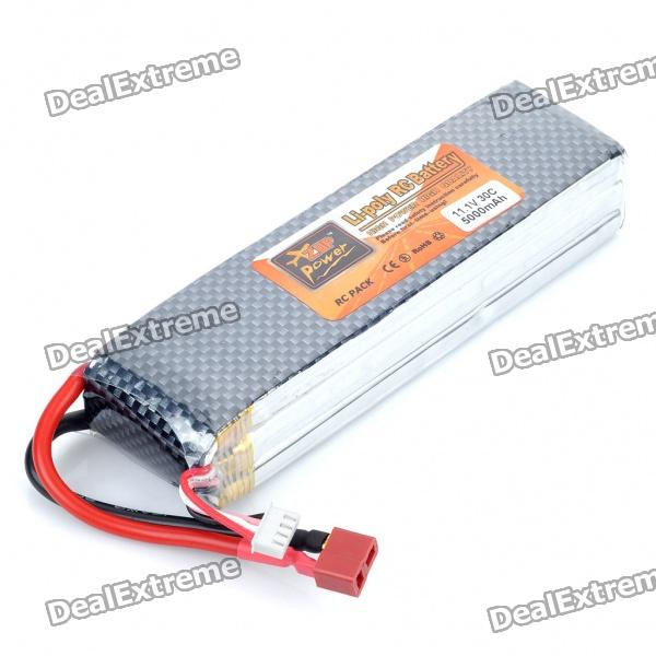 Replacement 11.1V 30C 5000mAh Li-Poly Battery Pack for R/C Helicopter