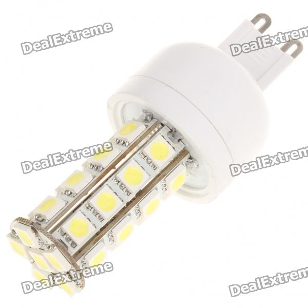 G9 5.5W 6500K 360-Lumen 30-5050 SMD LED White Light Bulb (AC 85~265V) r7s 15w 5050 smd led white light spotlight project lamp ac 85 265v