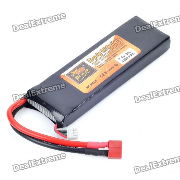 Replacement 7.4V 30C 4200mAh Li-Poly Battery Pack for R/C Car Model от DX.com INT