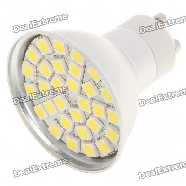 GU10 5.5W 6500K 360-Lumen 30-5050 SMD LED White Light Bulb (AC 85~265V) r7s 15w 5050 smd led white light spotlight project lamp ac 85 265v