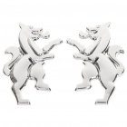 Myth Lions Style Car Decoration Stickers - Silver (Pair)