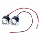 1W 6500K 120-Lumen Eagle Eye White Lights for Car (12V / Pair)