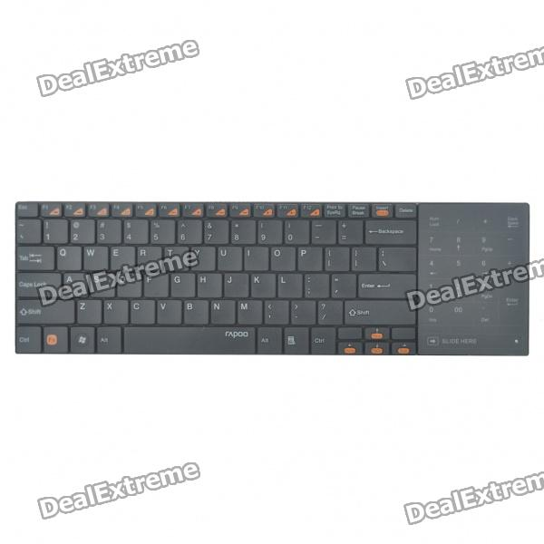 Rapoo E9080 Ultra Slim Wireless 82-Key Keyboard with Touchpad/Receiver - Black (2xAAA) new ru for lenovo u330p u330 russian laptop keyboard with case palmrest touchpad black