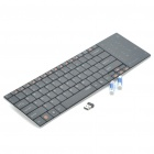 Rapoo E9080 Ultra Slim Wireless 82-Key Keyboard with Touchpad/Receiver - Black (2xAAA)