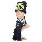 Soccer/Football Team Emblem 2-Layer Knitting Warm Scarf + Hat - Real Madrid
