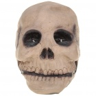 Halloween Scary Skull Head w/ 2 Decorative Blue LED Emitters - Grey (2 x AA)