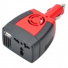 150W Car Cigarette Lighter 12V DC to 220V AC Power Inverter with USB Power Port
