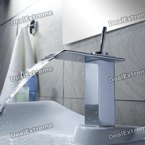 Modern Chrome Waterfall Bathroom Faucet frap new bathroom combination basin faucet shower tap single handle cold and hot water mixer with slide bar torneira f2822