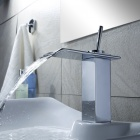 Modern Chrome Waterfall Bathroom Faucet