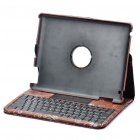 84-Key Bluetooth 2.0 Wireless Keyboard with Folding Leather Case for Ipad 2 - Brown