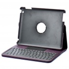 84-Key Bluetooth 2.0 Wireless Keyboard with Folding Leather Case for Ipad 2 - Purple