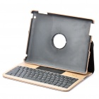84-Key Bluetooth 2.0 Wireless Keyboard with Folding Leather Case for Ipad 2 - Off-white