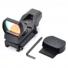 21mm Tactical 4-Reticle Green/Red Dot Sight Scope with Gun Mount - Black (1 x CR2032)
