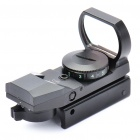 Tactical 4-Absehen Red Dot Sight Scope mit Gun Mount - Schwarz (1 x CR2032)