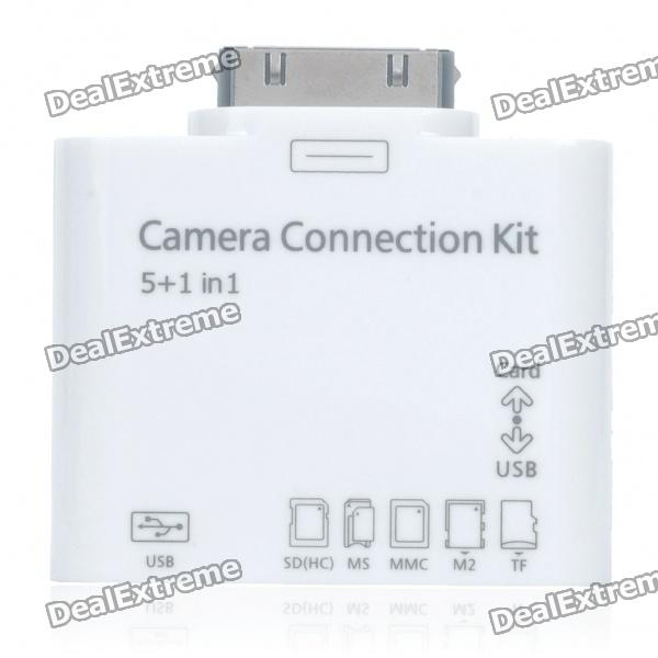Camera Connection Kit + Card Reader mit Verlängerungskabel für iPad / iPod / iPhone
