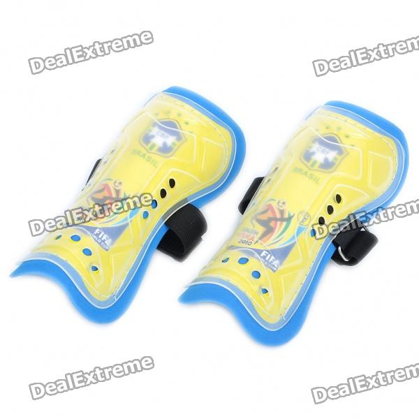 Brazil National Team World Cup Style Sport Leg Protector - Blue + White + Yellow (Pair/Set)