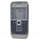Replacement Full Housing Case with Buttons for Nokia E71 - Silver Grey