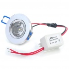 3W 3200K 220-Lumen 1-3528-SMD LED Warm White Light Bulb w/ LED Driver (AC 85~265V)