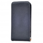 Protective Genuine Leather Cover Plastic Case for HTC EVO 3D - Black