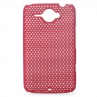 Mesh Protective PC Back Case for HTC ChaCha G16 - Red