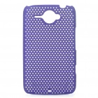 Mesh Protective PC Back Case for HTC ChaCha G16 - Purple