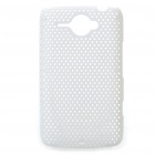 Mesh Protective PC Back Case for HTC ChaCha G16 - White
