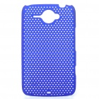 Mesh Protective PC Back Case for HTC ChaCha G16 - Blue