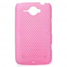 Mesh Protective PC Back Case for HTC ChaCha G16 - Pink