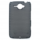 Mesh Protective PC Back Case for HTC ChaCha G16 - Black