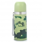 Stainless Steel Vacuum Flask Bottle - Camouflage Green (350ml)