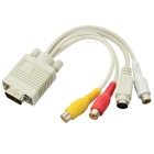 VGA-to-TV 3RCA + S-Video Cable