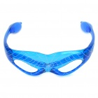 Halloween-Kostüm-12-LED 3-Modus Blue Light LED Plastic Spider Man Glasses - Blue (3 x AG13)