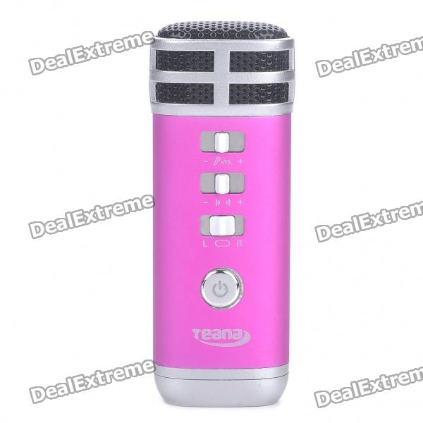I9 Stilvolle tragbare Mini-KTV Singing Karaoke Player für Laptop / Handy - Deep Pink