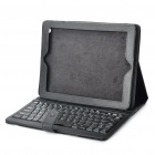 Wireless Bluetooth 83-Key Keyboard with PU Leather Case for iPad 2 - Black