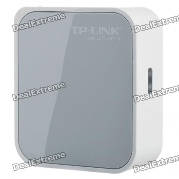 TP-Link 700N Portable Mini 802.11b/g/n 150Mbps WiFi Wireless Router - White + Grey d link dir 605l 802 11b g n 300mbps wifi wireless router black
