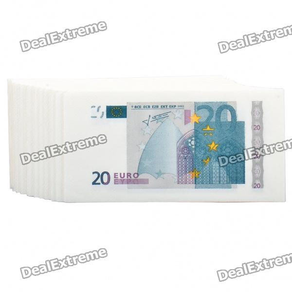 Creative 20 Euro Bill Pattern Napkin - White + Grey + Blue (Big/20-Piece) bill schley the unstoppables tapping your entrepreneurial power