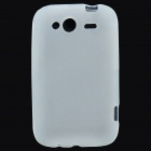 Protective PVC Protective Back Case for HTC Wildfire S - White
