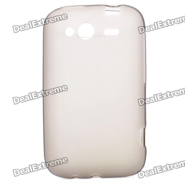 Protective PVC Protective Back Case for HTC Wildfire S - Grey