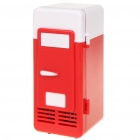 2-in-1 Mini USB Powered Drink Cooling Fridge / Heater - Red + White