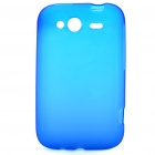 Protective PVC Protective Back Case for HTC Wildfire S - Blue