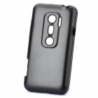 Protective Aluminum + Silicone Back Case for HTC EVO 3D - Black