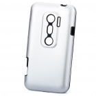 Protective Aluminum + Silicone Back Case for HTC EVO 3D - Silver