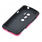Protective Aluminum + Silicone Back Case for HTC EVO 3D - Red